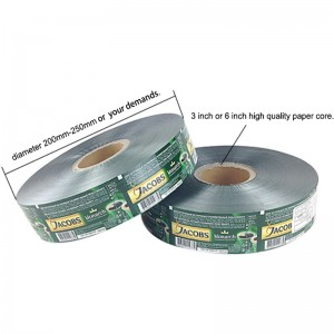 laminated material pet/vmpet/pe shampoo packaging plastic roll film with custom logo design printing