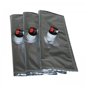 Recyclable Aluminum Foil 3L Liquid Packaging Plastic Storage Wine Bag In Box With Spout Tap