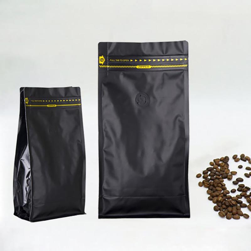 Wholesale Recycle Valve Zipper Packaging Pouch OEM Flat Bottom Side Gusset Stand Up Custom Printing Coffee Bag