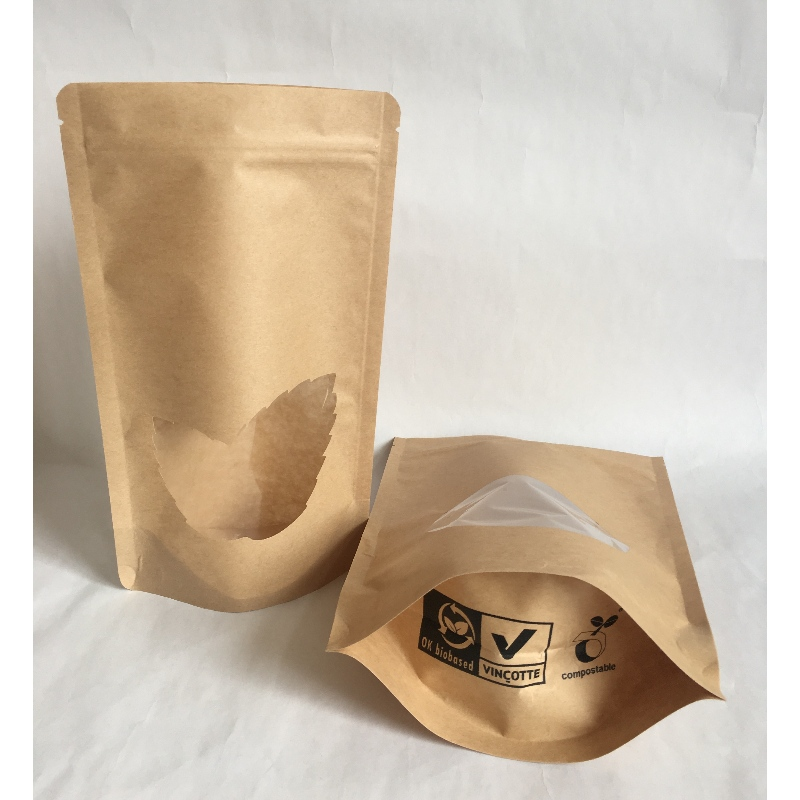 PLA Bio Degradable Plastic Packaging Bag For Food ,Eco-Friendly Laminating stand pouch